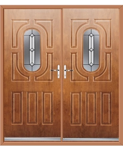 Arcacia French Rockdoor in Light Oak with Ellipse