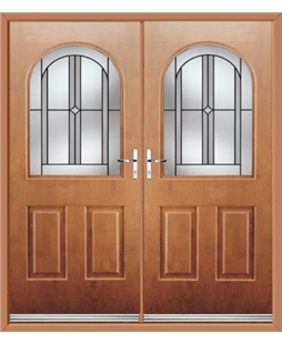 Kentucky French Rockdoor in Light Oak with Ellipse