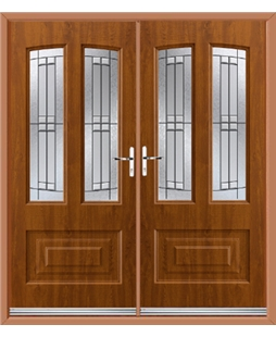 Illinois French Rockdoor in Light Oak with Empire