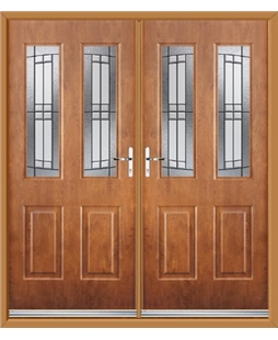 Jacobean French Rockdoor in Light Oak with Empire