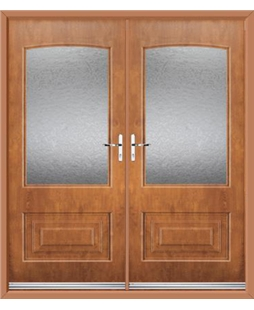 Portland French Rockdoor in Light Oak with Gluechip Glazing