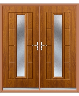 Vermont French Rockdoor in Light Oak with Gluechip Glazing