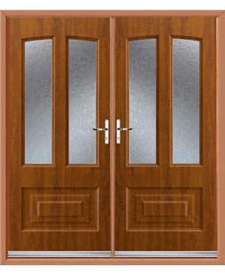 Illinois French Rockdoor in Light Oak with Gluechip Glazing