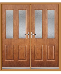 Jacobean French Rockdoor in Light Oak with Gluechip Glazing