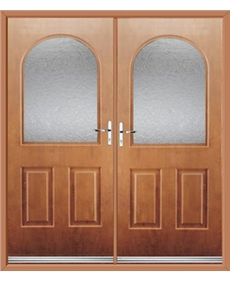 Kentucky French Rockdoor in Light Oak with Gluechip Glazing