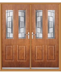 Jacobean French Rockdoor in Light Oak with Inspire