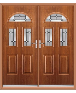Tennessee French Rockdoor in Light Oak with Linear