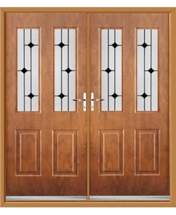 Jacobean French Rockdoor in Light Oak with Linear