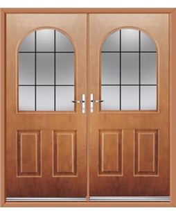 Kentucky French Rockdoor in Light Oak with Square Lead