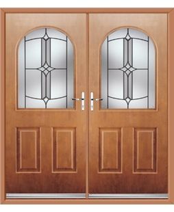 Kentucky French Rockdoor in Light Oak with Summit