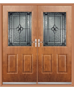 Windsor French Rockdoor in Light Oak with Triton Glazing