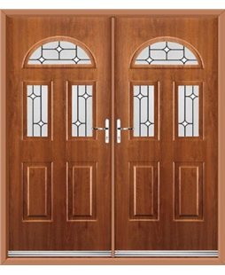 Tennessee French Rockdoor in Light Oak with White Diamonds