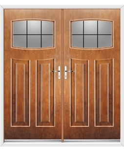 Newark French Rockdoor in Light Oak with Square Lead