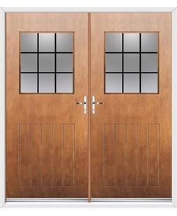 Cottage View Light French Rockdoor in Light Oak with Square Lead