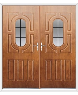 Arcacia French Rockdoor in Light Oak with Square Lead