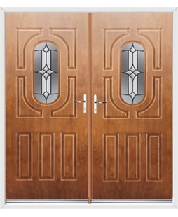 Arcacia French Rockdoor in Light Oak with Summit