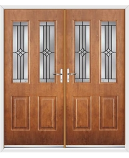 Jacobean French Rockdoor in Light Oak with Summit