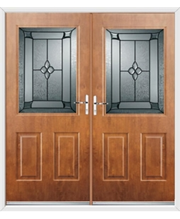Windsor French Rockdoor in Light Oak with Titania Glazing