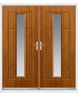 Vermont French Rockdoor in Light Oak with Glazing