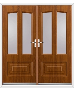 Illinois French Rockdoor in Light Oak with Glazing