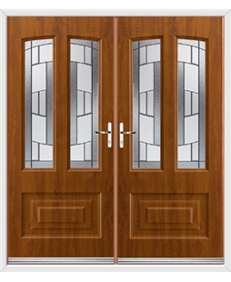 Illinois French Rockdoor in Light Oak with Inspire