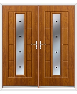 Vermont French Rockdoor in Light Oak with Quadra
