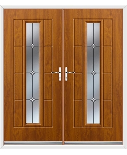 Vermont French Rockdoor in Light Oak with Trio
