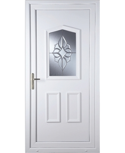 Oswestry China Cluster uPVC Door