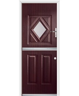 Ultimate Stable Diamond Rockdoor in Mahogany with Glazing