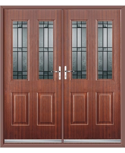 Jacobean French Rockdoor in Mahogany with Apollo