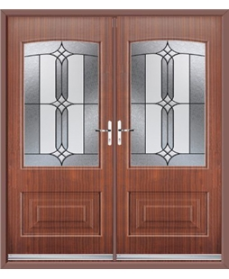 Portland French Rockdoor in Mahogany with Apostle Glazing