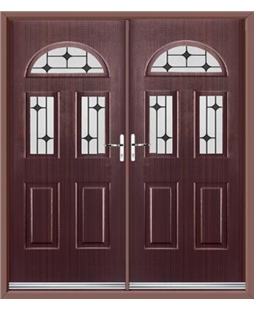 Tennessee French Rockdoor in Mahogany with Black Diamonds