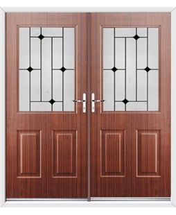 Windsor French Rockdoor in Mahogany with Black Diamonds