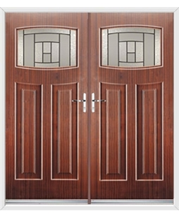Newark French Rockdoor in Mahogany with Citadel Glazing