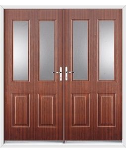 Jacobean French Rockdoor in Mahogany with Glazing