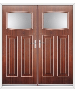 Newark French Rockdoor in Mahogany with Glazing