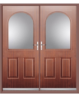 Kentucky French Rockdoor in Mahogany with Glazing