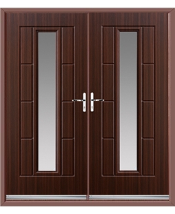 Vermont French Rockdoor in Mahogany with Glazing