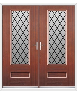 Vogue French Rockdoor in Mahogany with Diamond Lead