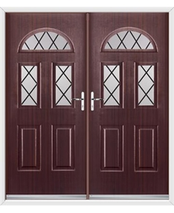 Tennessee French Rockdoor in Mahogany with Diamond Lead
