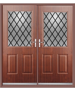 Windsor French Rockdoor in Mahogany with Diamond Lead