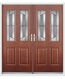 Jacobean French Rockdoor in Mahogany with Ellipse