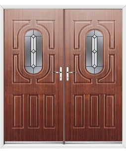 Arcacia French Rockdoor in Mahogany with Ellipse