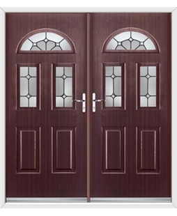Tennessee French Rockdoor in Mahogany with Ellipse