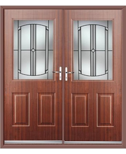 Windsor French Rockdoor in Mahogany with Ellipse