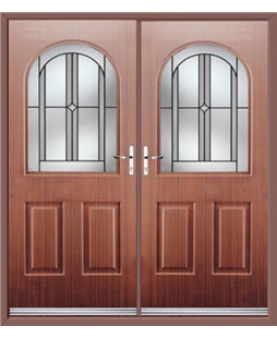 Kentucky French Rockdoor in Mahogany with Ellipse