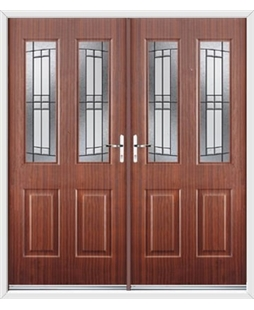 Jacobean French Rockdoor in Mahogany with Empire