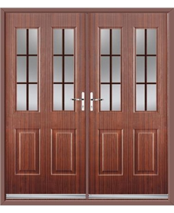 Jacobean French Rockdoor in Mahogany with Woodgrain Georgian Bar