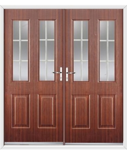 Jacobean French Rockdoor in Mahogany with White Georgian Bar
