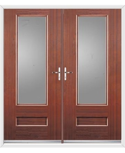 Vogue French Rockdoor in Mahogany with Glazing